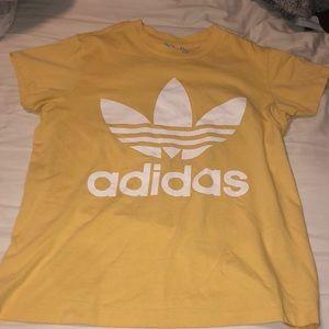 Boyfriend Trefoil Tee Adidas Yellow Small